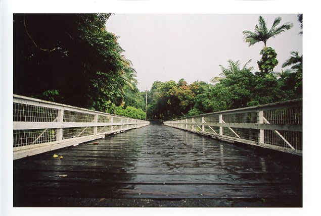 Wailuku Canyon River Bridge, Hilo, Big Island, Hawaii. Canon A-1. © 2011 Bobby Asato