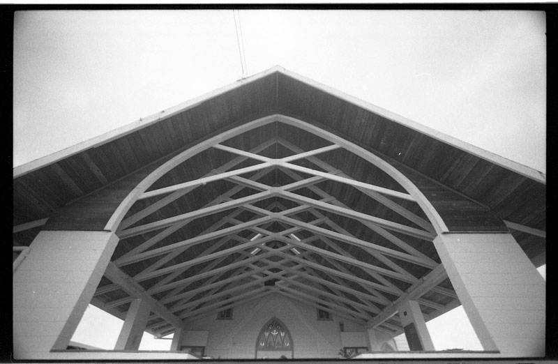 Sacred Heart Catholic Church, Pahoa, Big Island, Hawaii. Canon A-1. © 2011 Bobby Asato