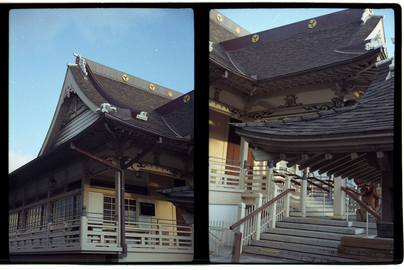 Shingon Mission, Honolulu, Hawaii. Yashica Half 17 Half-frame Camera. © 2011 Bobby Asato