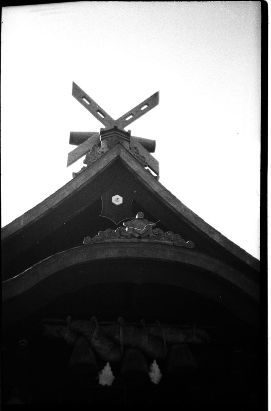 Izumo Taisha Shrine, Downtown, Honolulu, Hawaii. Holga 135. © 2011 Bobby Asato