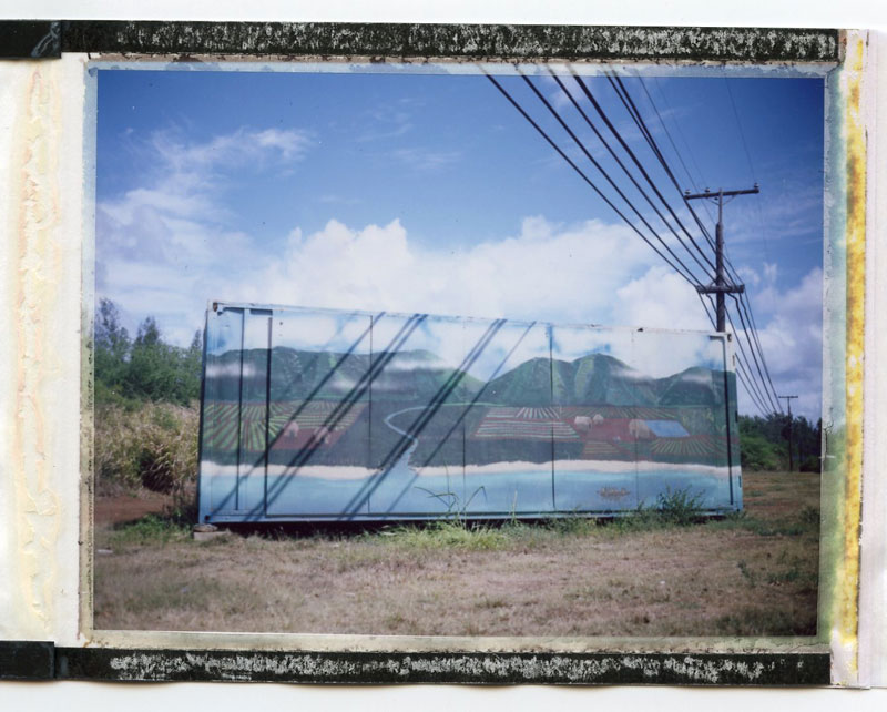 Haleiwa, North Shore, Hawaii. Polaroid Land 100. © 2011 Bobby Asato.