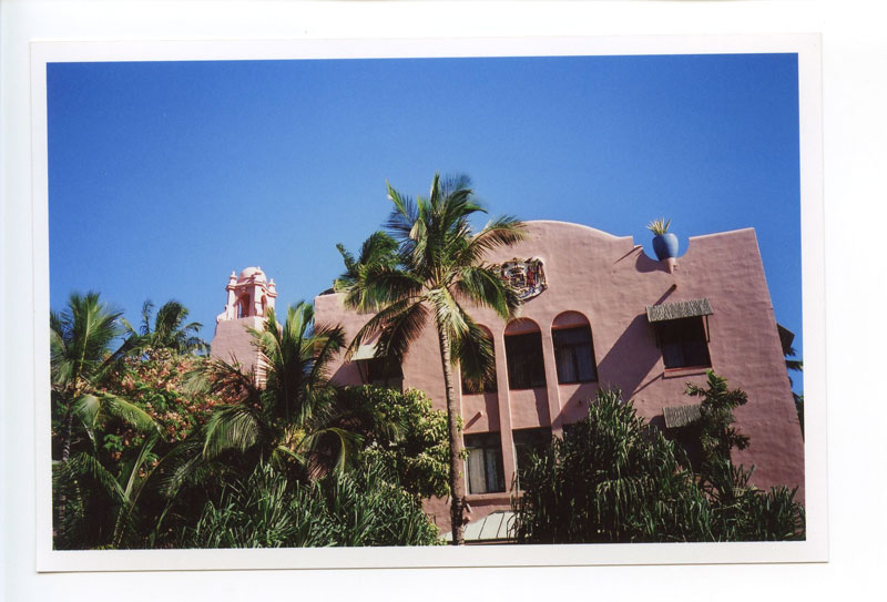 The Royal Hawaiian Hotel, Waikiki, Hawaii.  Lomo LC-A+ © 2013 Bobby Asato