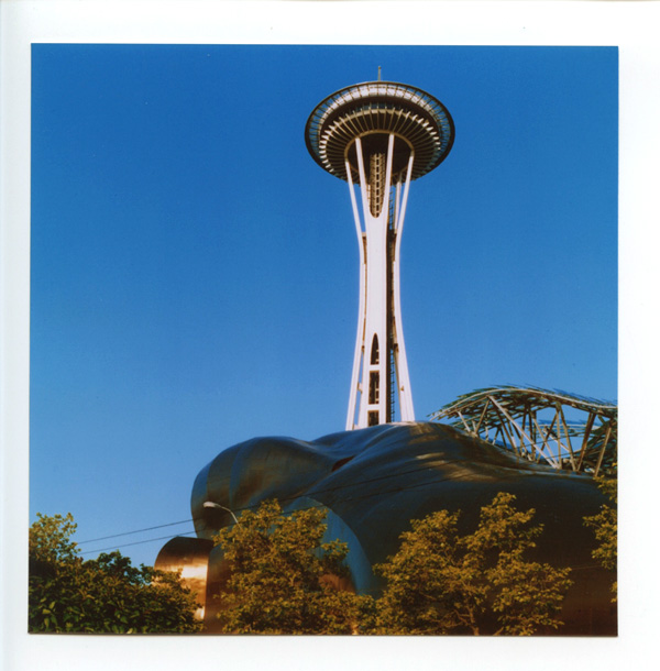 Space Needle & EMP, Seattle. Lomo Lubitel 166++ © 2012 Bobby Asato